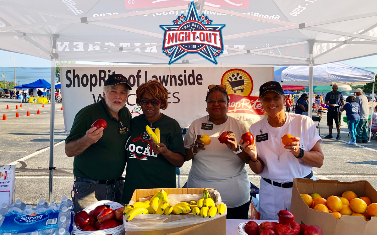 National Night Out, Fireworks, Family Fun, Request a Donation, Donations, Zallies Fresh Kitchen, ShopRite of Medford, ShopRite of Lawnside, ShopRite of Gibbstown, South Jersey, Zip Code, 08055, 08045, 08027, Local, Community, Sponsor, Event
