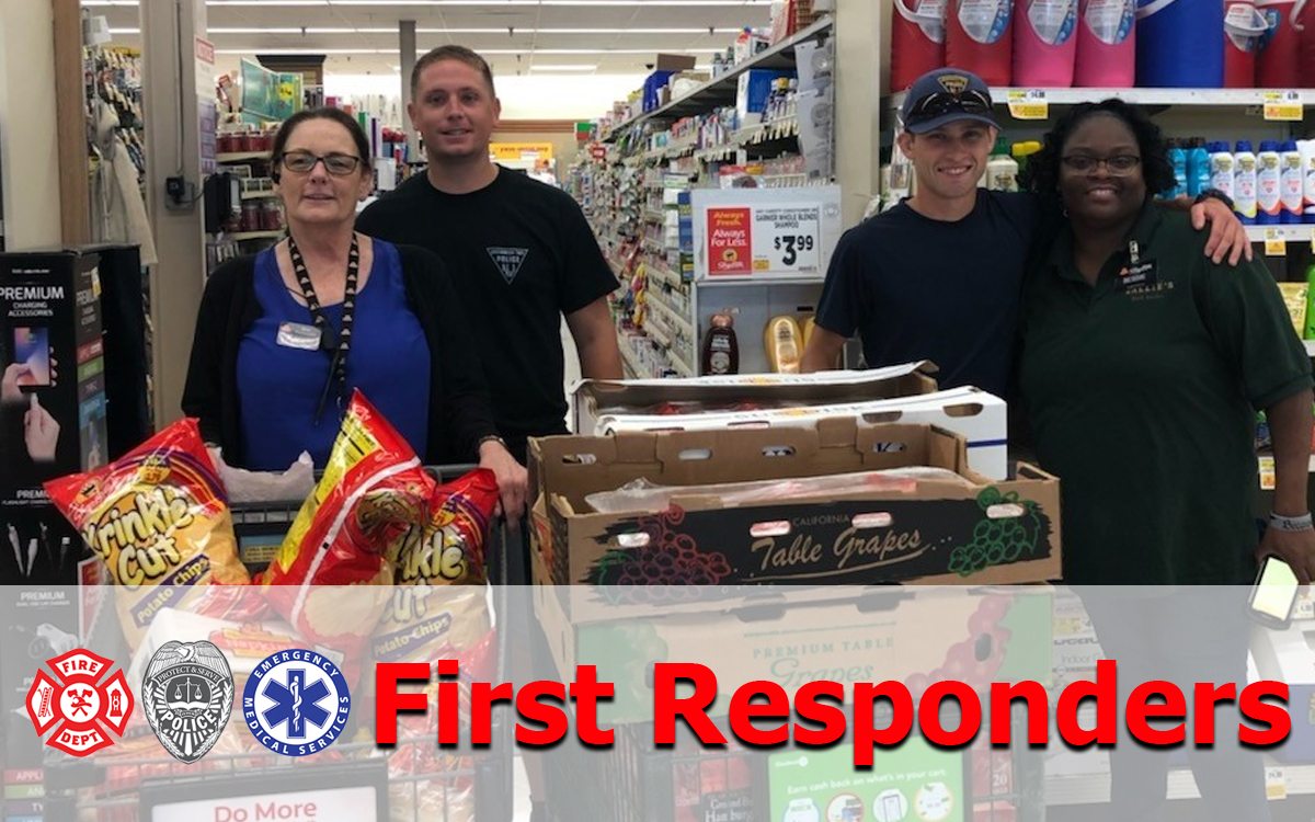 First Responders, Police, Officers Fireman, EMT, Paramedics, DR, Nurse, Food Drive, Request a Donation, Donations, Zallies Fresh Kitchen, ShopRite of Medford, ShopRite of Lawnside, ShopRite of Gibbstown, South Jersey, Zip Code, 08055, 08045, 08027, Local, Community, Sponsor, Event